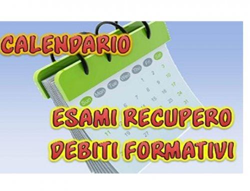 INTEGRAZIONE VERIFICHE DEBITO FORMATIVO LICEO ARTISTICO- A.S. 2018/2019