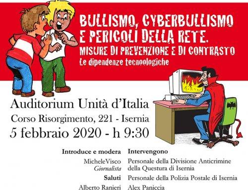 EVENTO BULLISMO, CYBERBULLISMO E PERICOLI DELLA RETE. MISURE DI PREVENZIONE E CONTRASTO – 5 FEBBRAIO 2020