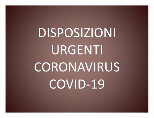 EMERGENZA CORONAVIRUS COVID -19
