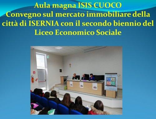 Aula magna ISIS CUOCO – Convegno sul mercato immobiliare della città di ISERNIA con il secondo biennio del Liceo Economico Sociale