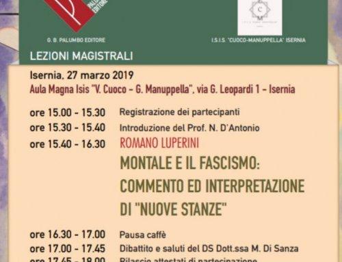 """MONTALE E IL FASCISMO: COMMENTO ED INTERPRETAZIONE DI """"NUOVE STANZE"""""""