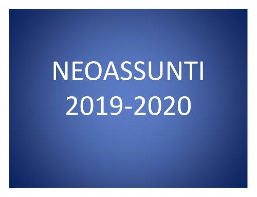 NEOASSUNTI A.S. 2019-20